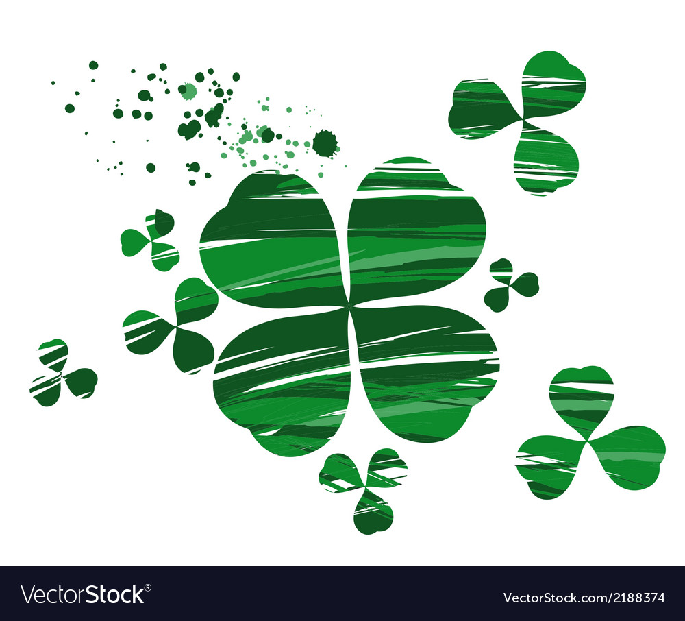 Clover painted with paint vector | Price: 1 Credit (USD $1)