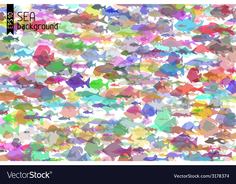 Colourful fish background vector | Price: 1 Credit (USD $1)