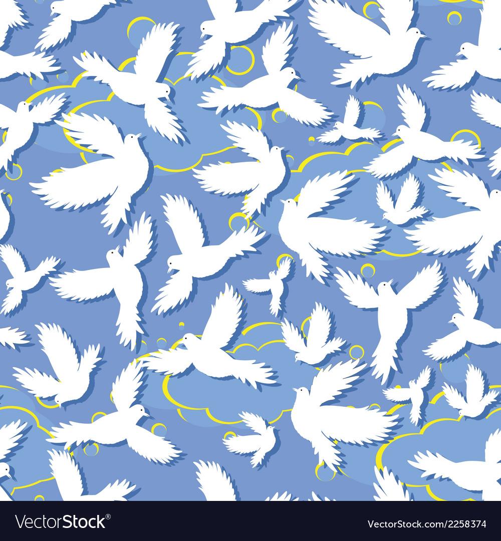 Holy bird dove seamless vector | Price: 1 Credit (USD $1)
