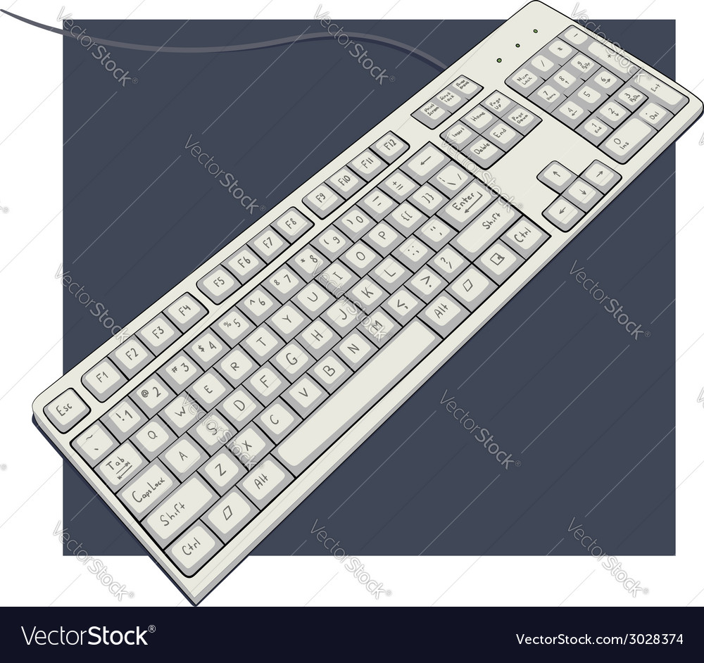 Keyboard with characters vector | Price: 1 Credit (USD $1)