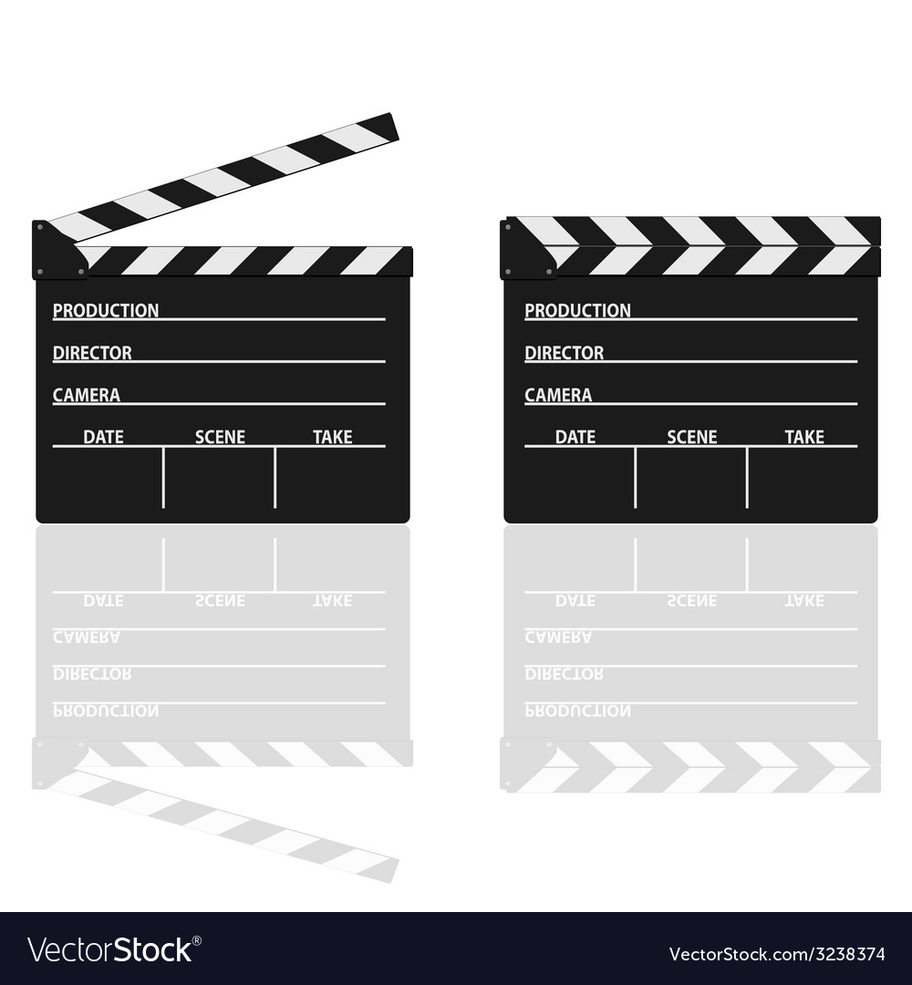 Movie clapper with text on it vector | Price: 1 Credit (USD $1)