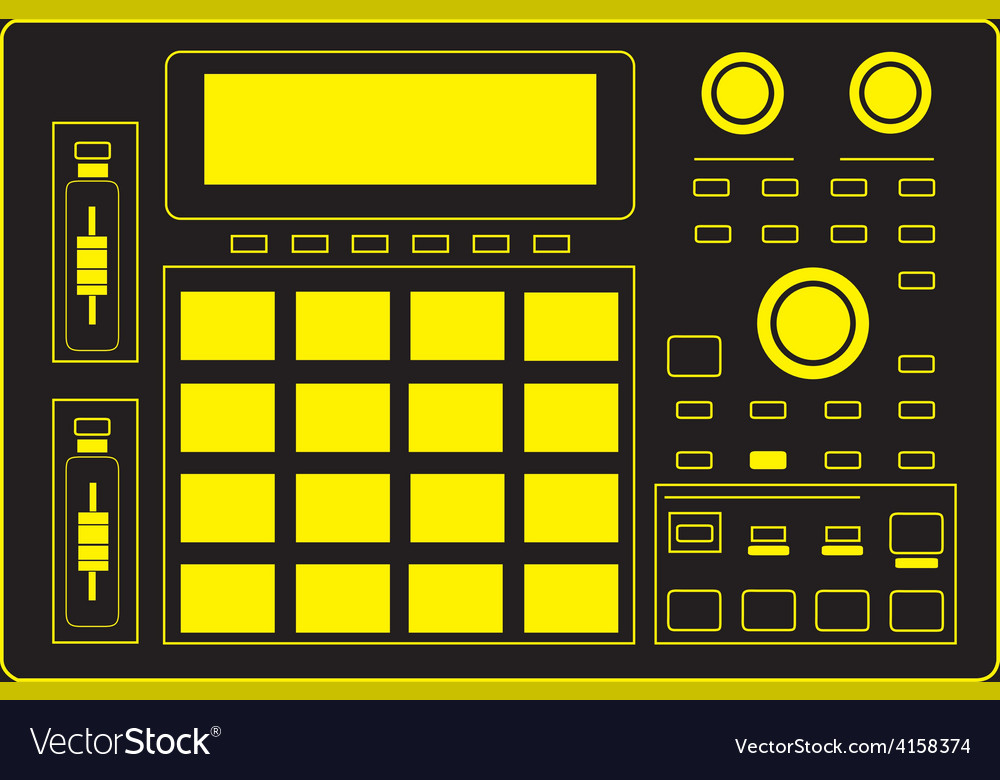 Mpc drum machine vector | Price: 1 Credit (USD $1)