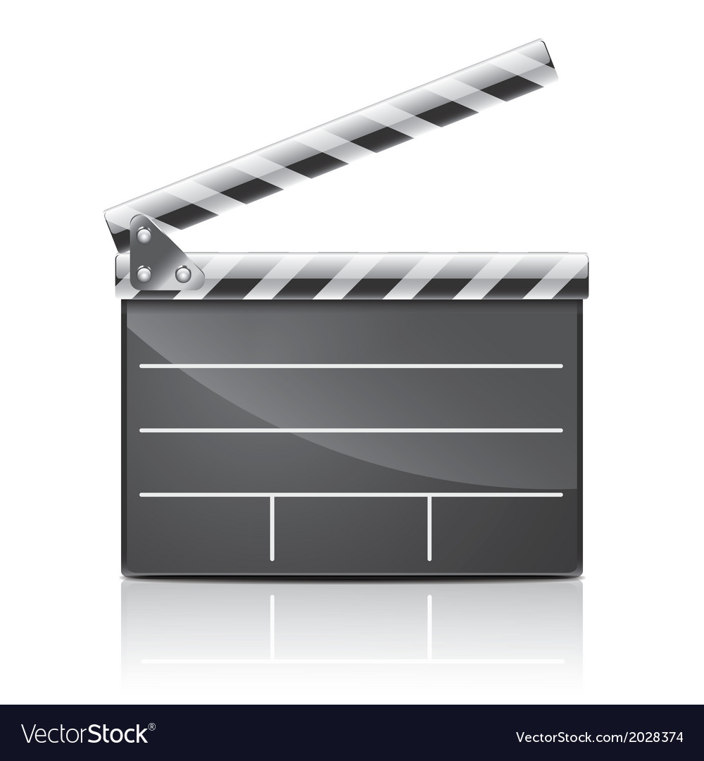 Object film clapper vector | Price: 1 Credit (USD $1)