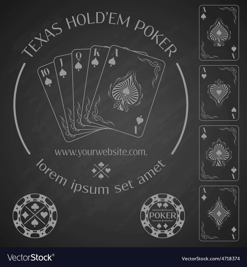 Poker emblem and design elements vector | Price: 3 Credit (USD $3)