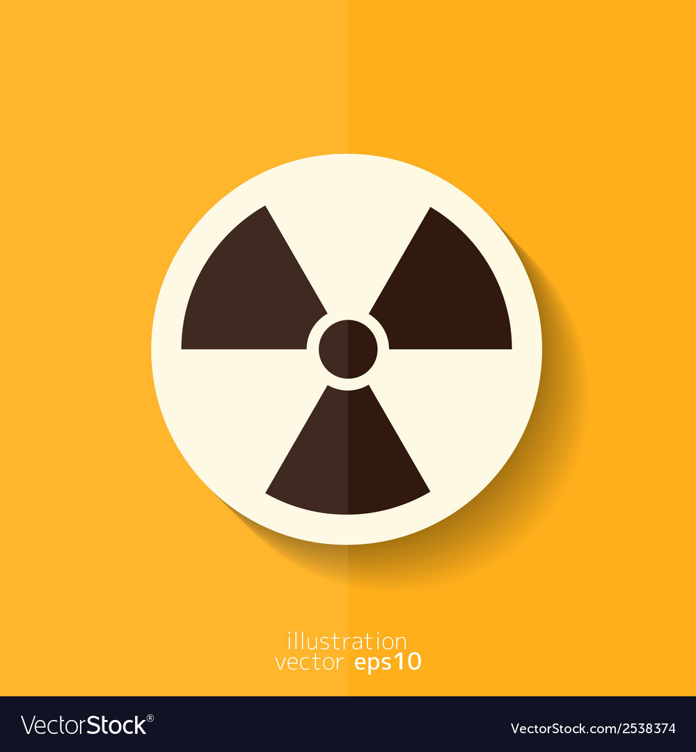 Radiation danger icon vector | Price: 1 Credit (USD $1)