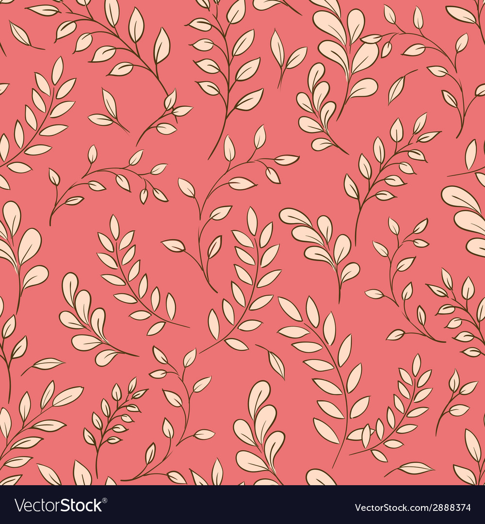 Seamless leaf pattern vector | Price: 1 Credit (USD $1)