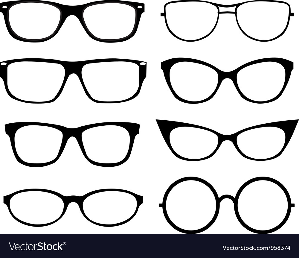 Set of eyeglasses vector | Price: 1 Credit (USD $1)
