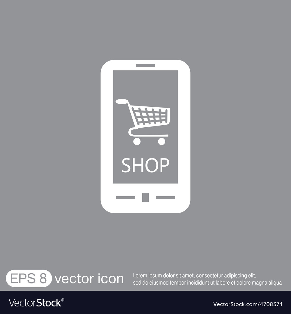Shopping cart online store vector   Price: 1 Credit (USD $1)