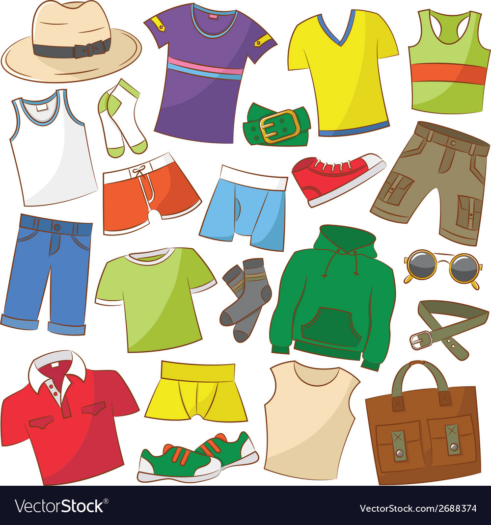 Summer menwear vector | Price: 1 Credit (USD $1)
