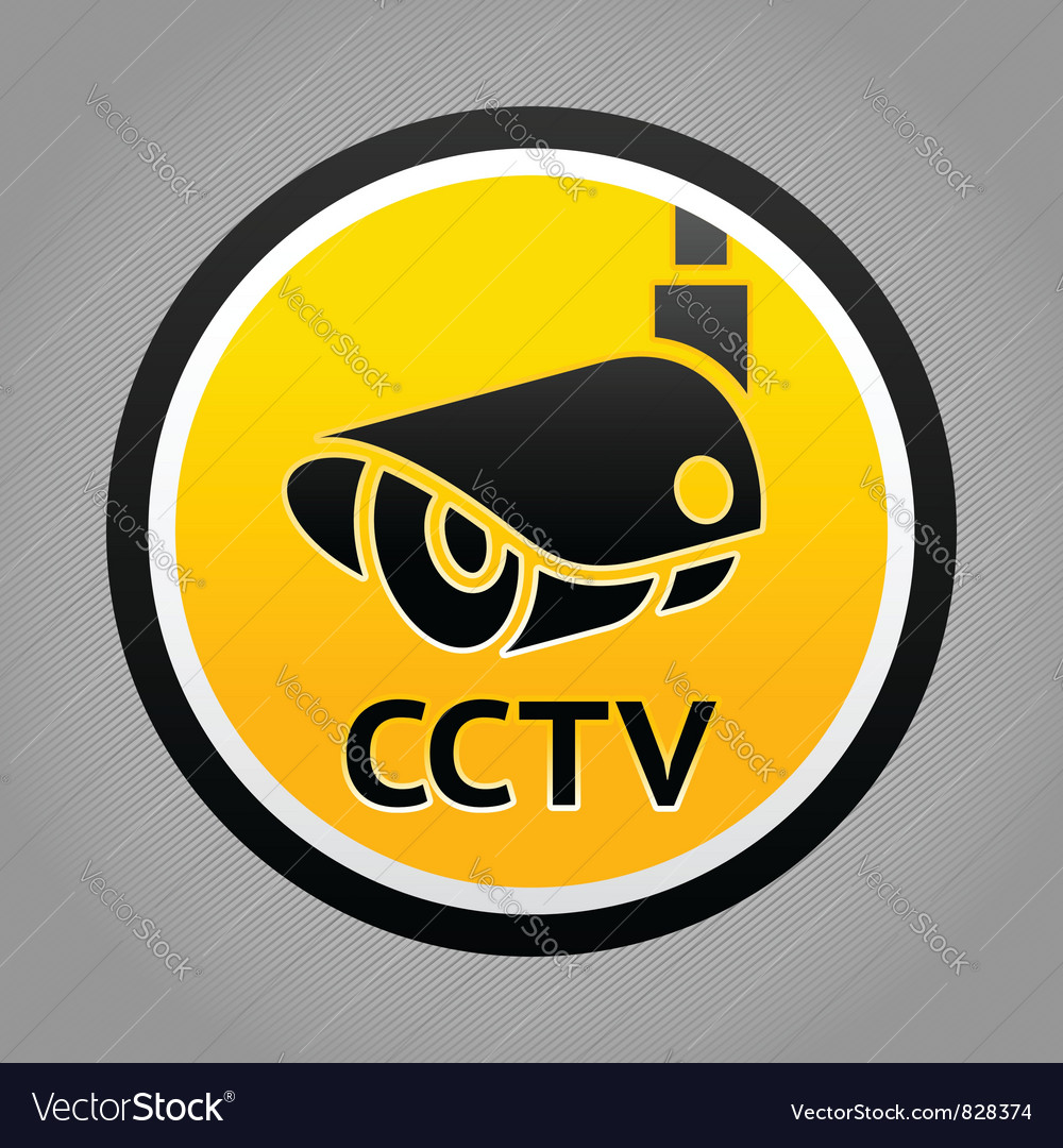 Surveillance camera warning sign vector | Price: 1 Credit (USD $1)