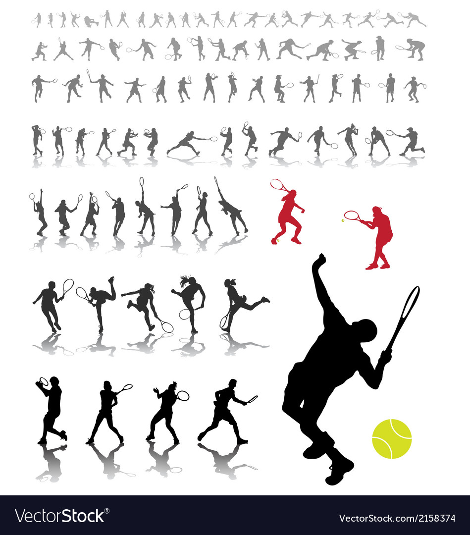 Tennis players vector | Price: 1 Credit (USD $1)