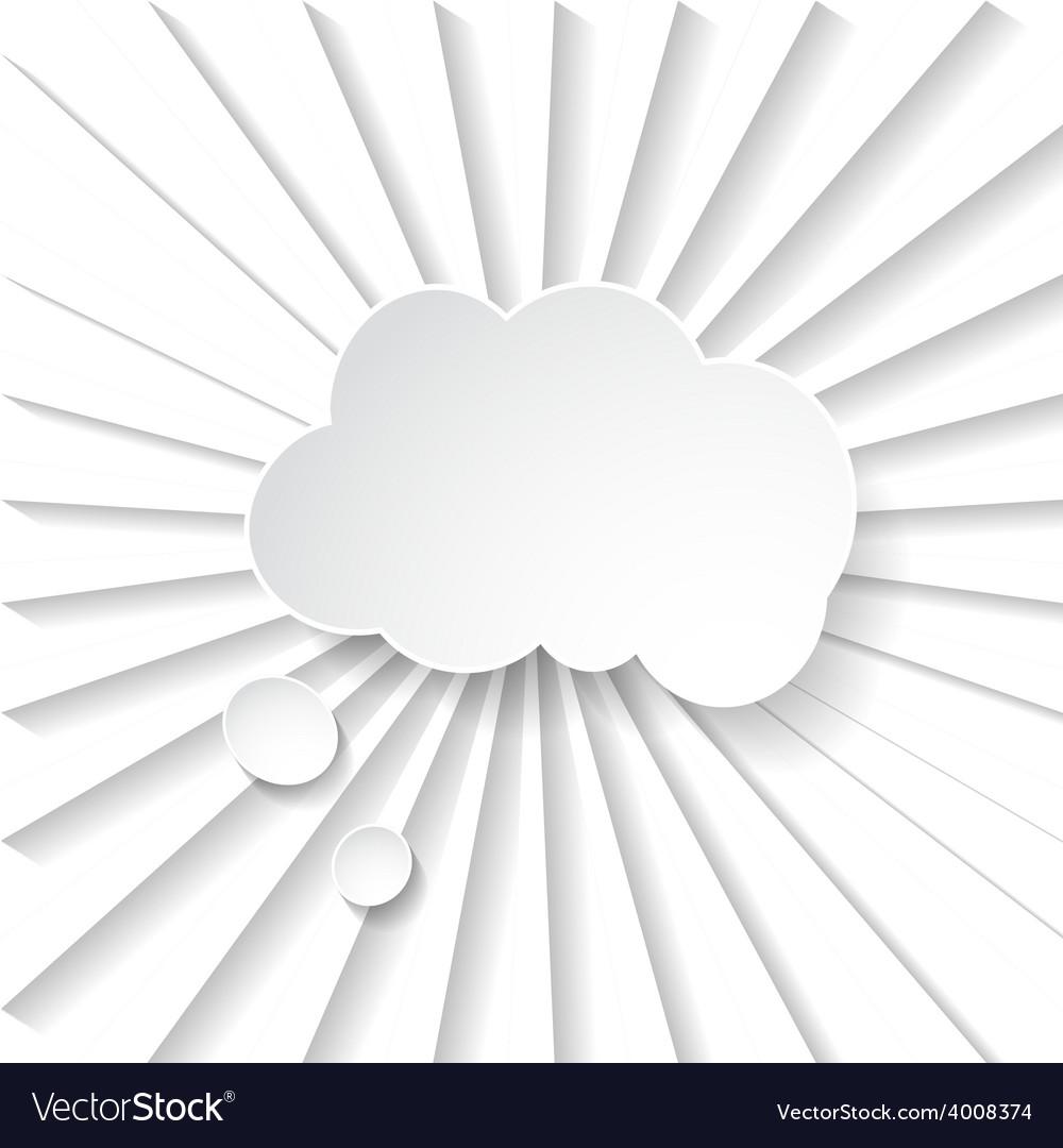 White paper speech bubble vector | Price: 1 Credit (USD $1)
