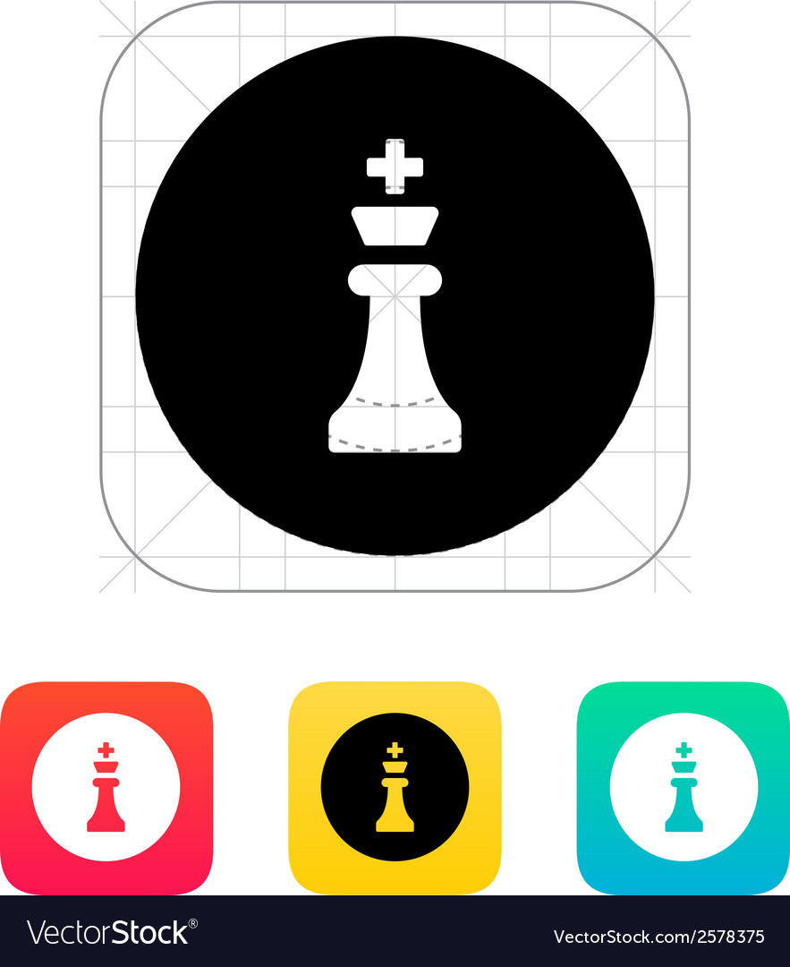 Chess king icon vector | Price: 1 Credit (USD $1)