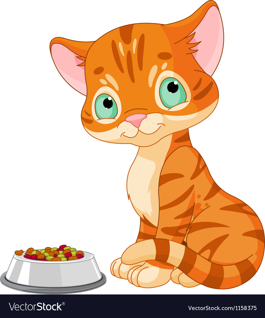 Cute kitten vector | Price: 1 Credit (USD $1)