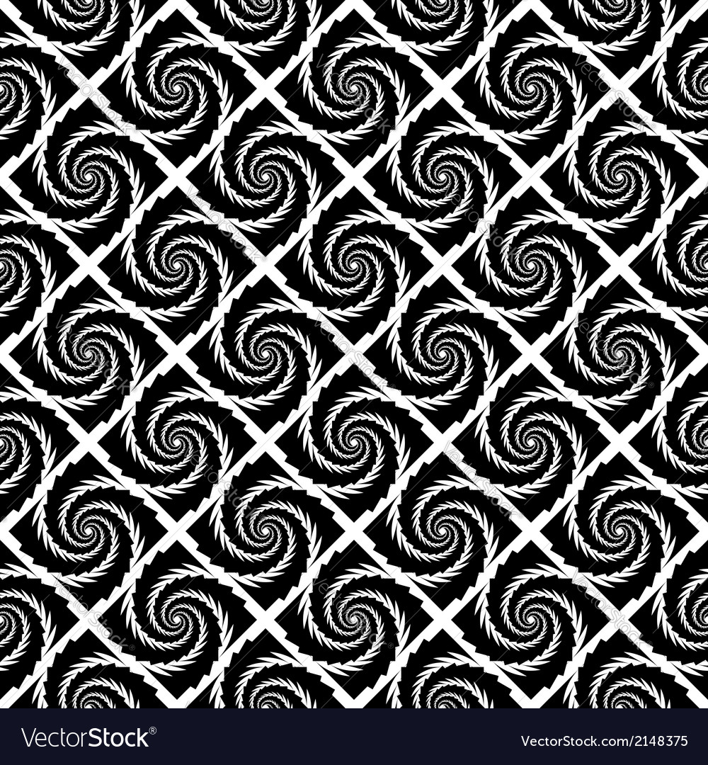 Design seamless monochrome vortex pattern vector | Price: 1 Credit (USD $1)