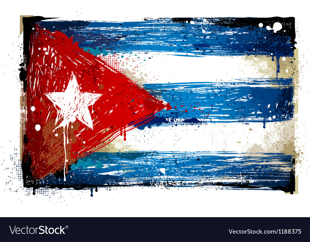 Grungy cuban flag vector | Price: 1 Credit (USD $1)
