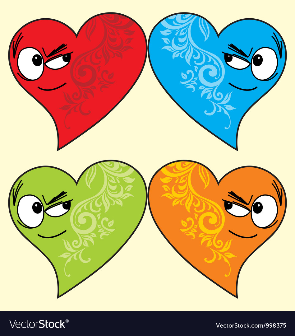 Isolated love face vector | Price: 1 Credit (USD $1)