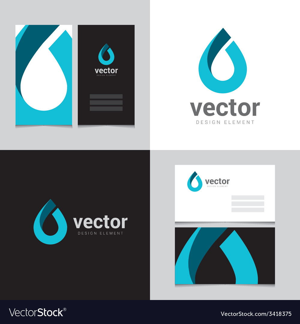 Logo design element with two business cards - 16 vector | Price: 1 Credit (USD $1)
