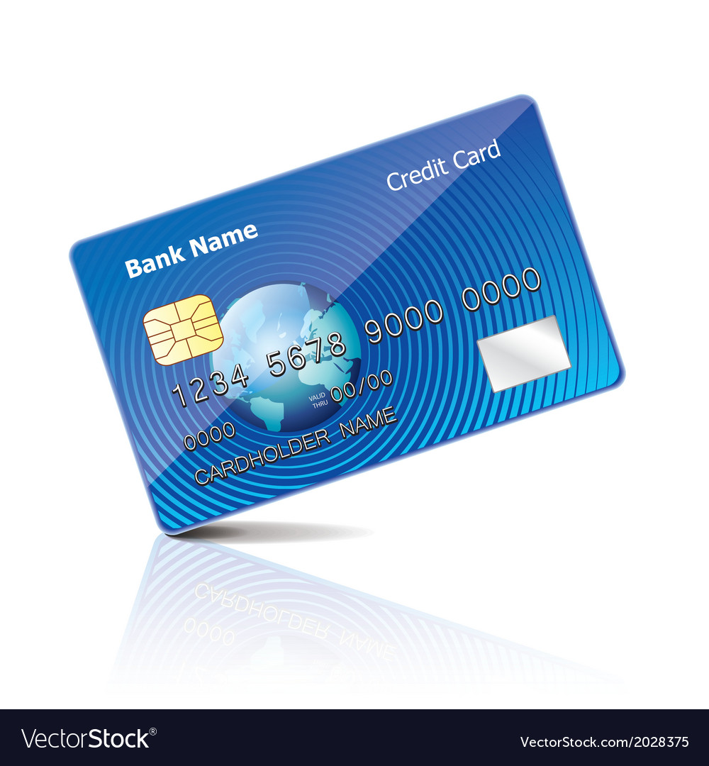 Object credit card vector | Price: 1 Credit (USD $1)