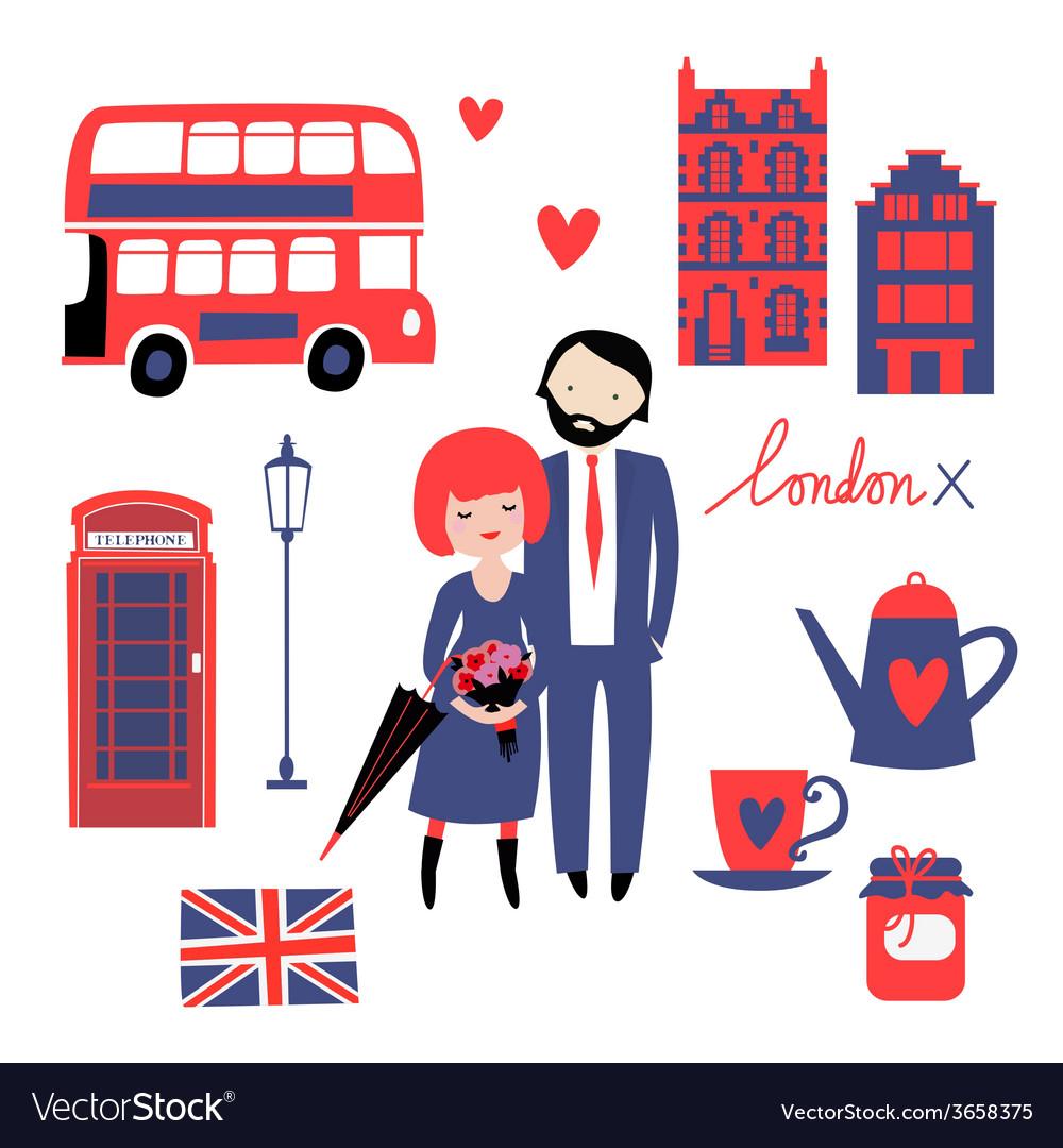 Romantic of london vector | Price: 1 Credit (USD $1)