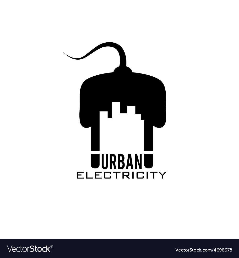 Urban electricity design template vector | Price: 1 Credit (USD $1)