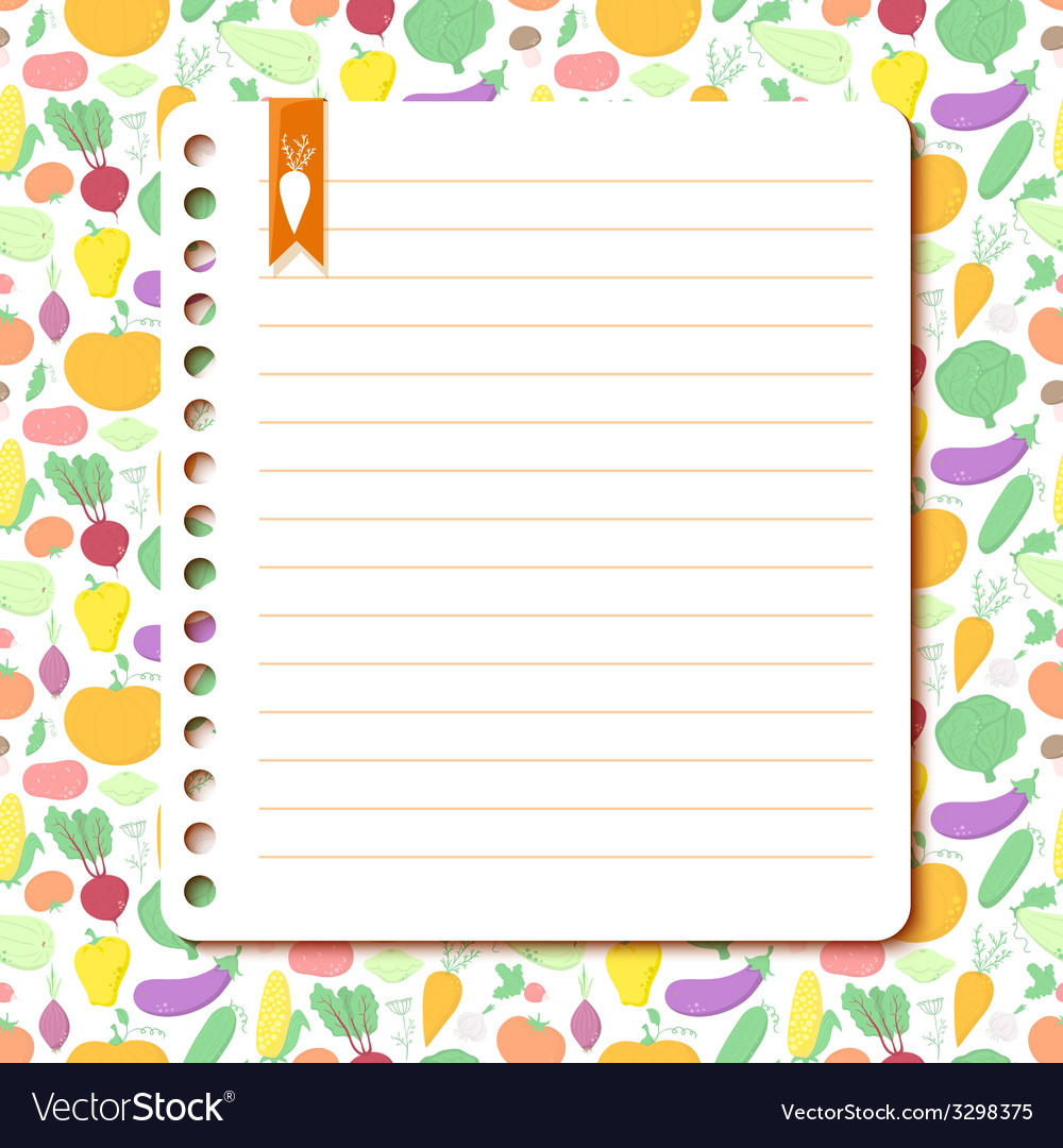 Vegetables background with space for text vector | Price: 1 Credit (USD $1)