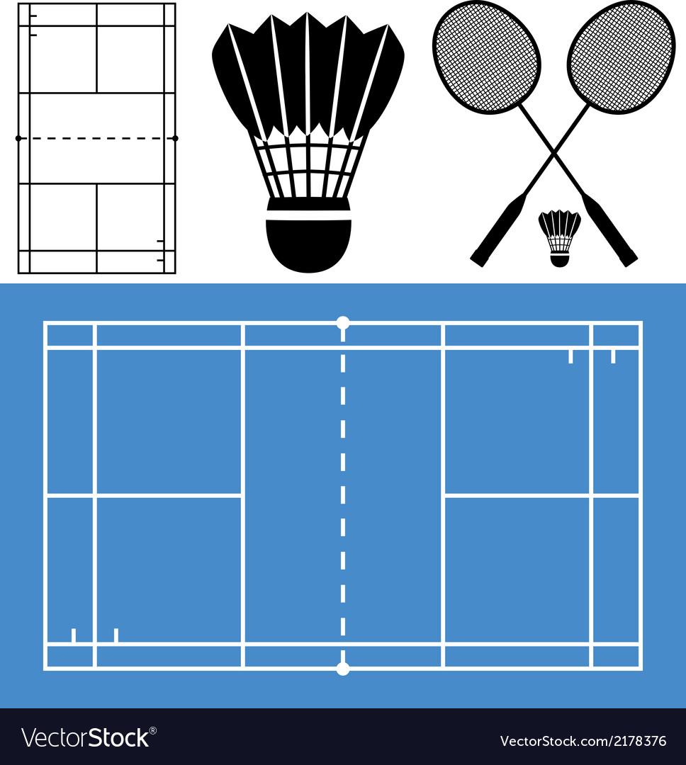 Badminton vector | Price: 1 Credit (USD $1)