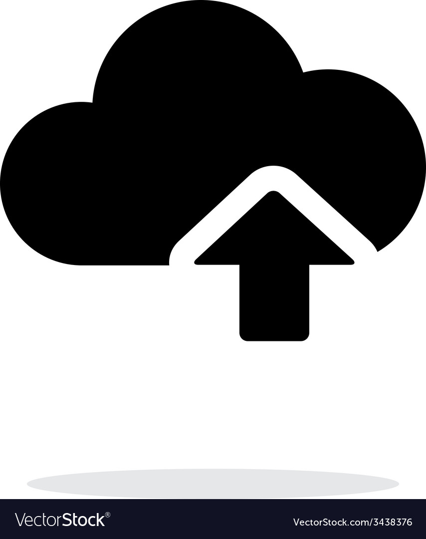 Cloud computing upload simple icon on white vector | Price: 1 Credit (USD $1)