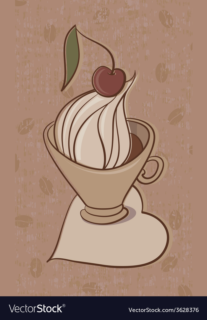 Cup of cappuccino vector | Price: 1 Credit (USD $1)