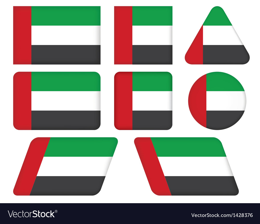 Flag of united arab emirates vector | Price: 1 Credit (USD $1)