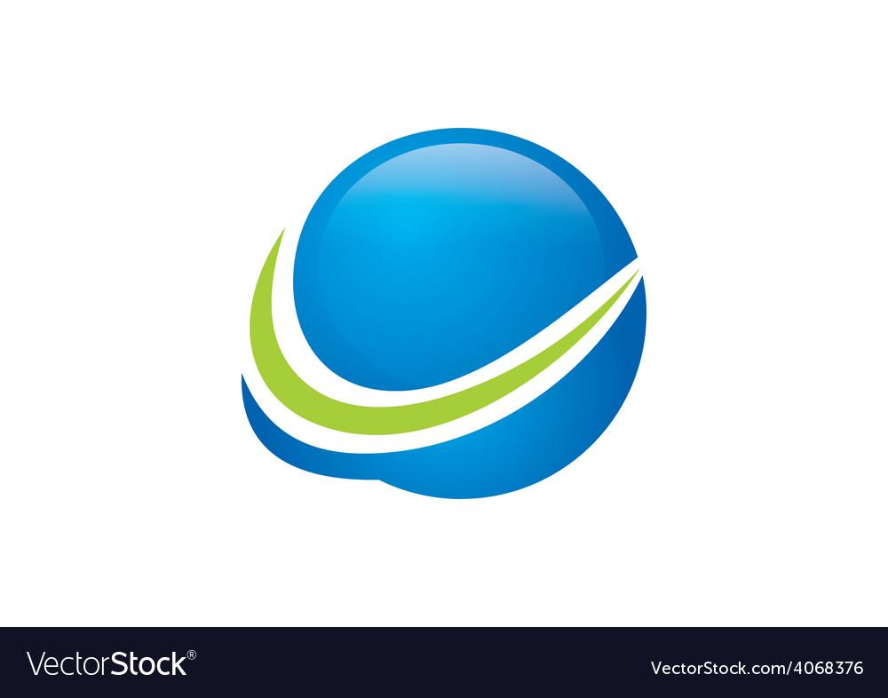 Globe sphere finance abstract arrow logo vector | Price: 1 Credit (USD $1)
