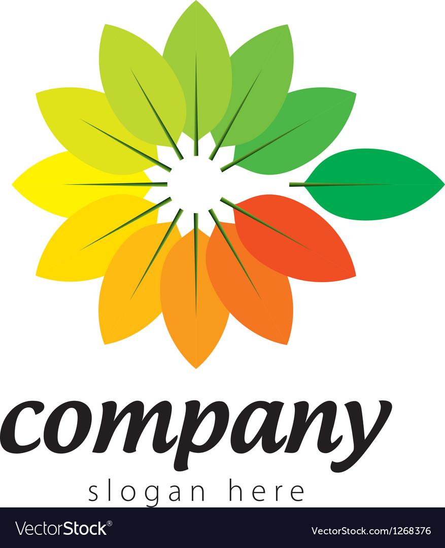 Logo colorful plants vector | Price: 1 Credit (USD $1)
