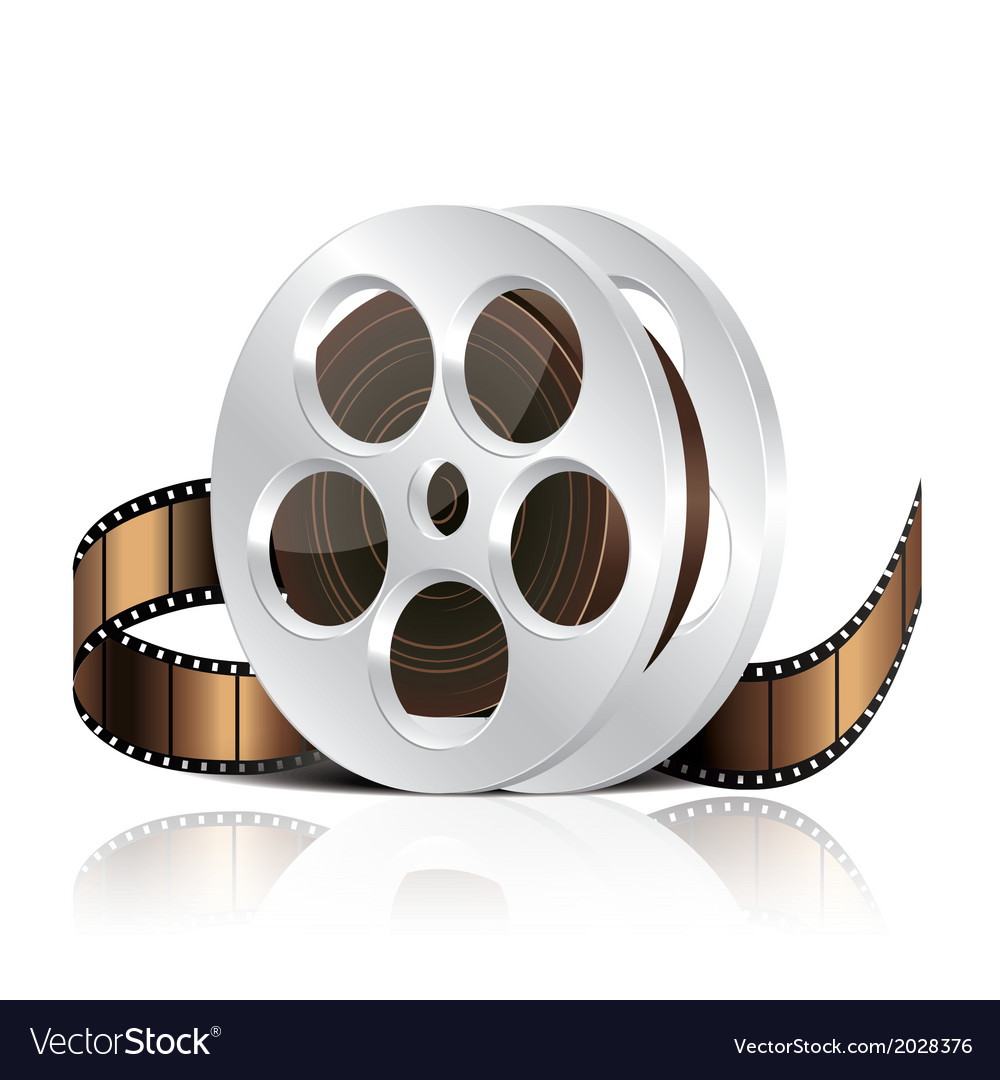 Object film reel vector | Price: 1 Credit (USD $1)