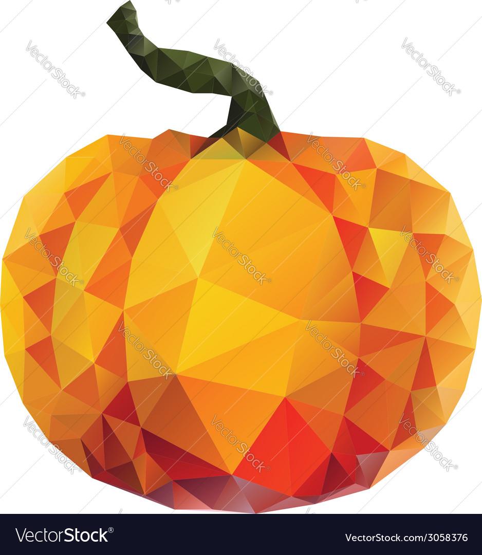 Polygonal pumpkin vector | Price: 1 Credit (USD $1)