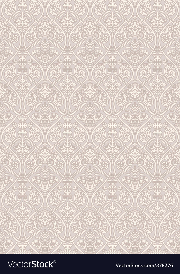 Seamless gothic damask pattern vector | Price: 1 Credit (USD $1)