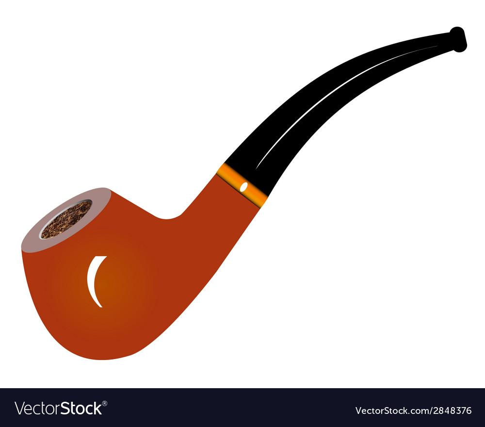 Smoking pipe vector | Price: 1 Credit (USD $1)