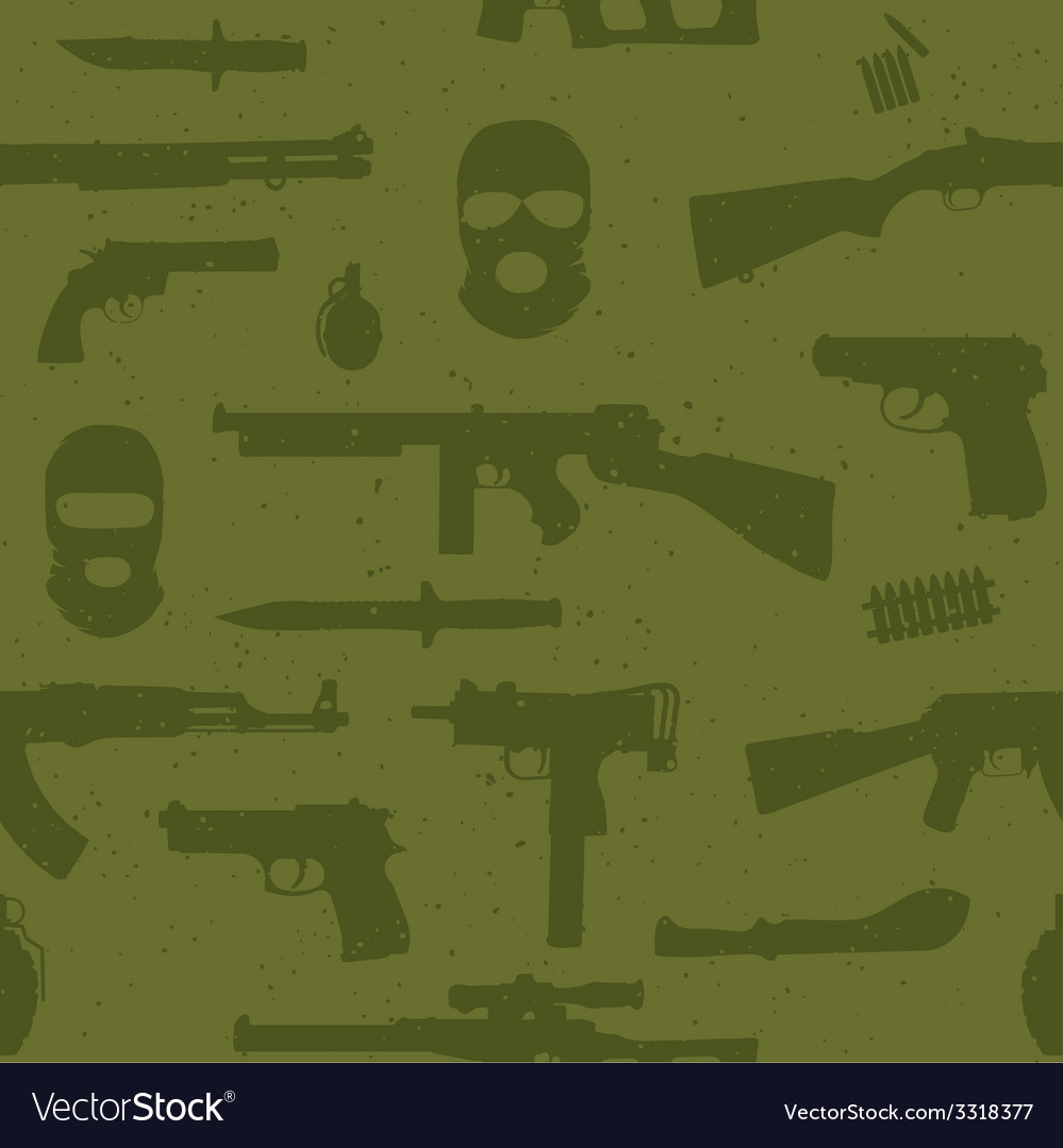 Army weapons seamless pattern vector | Price: 1 Credit (USD $1)