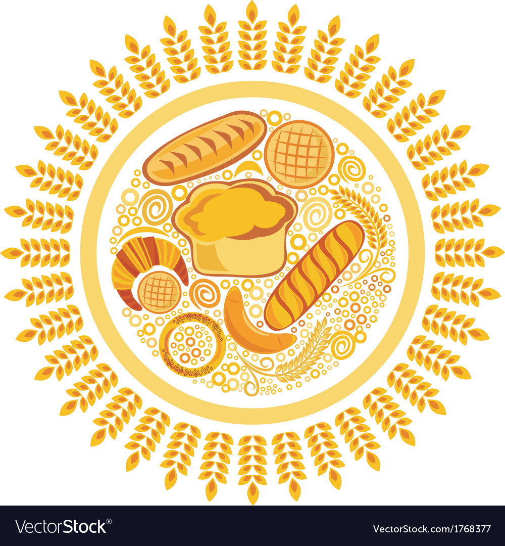 Bakery bread background vector | Price: 1 Credit (USD $1)