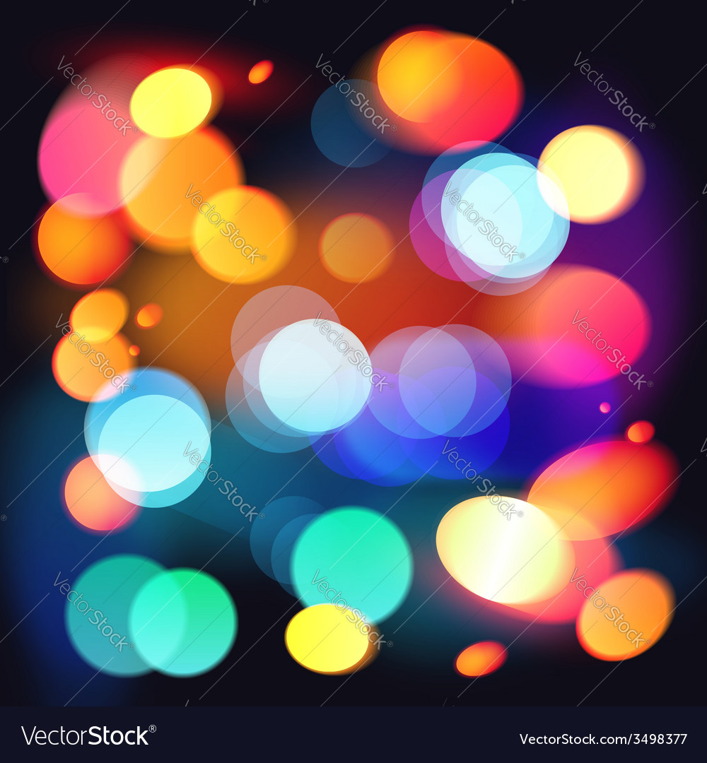 Bright colorful bokeh abstract background vector | Price: 1 Credit (USD $1)