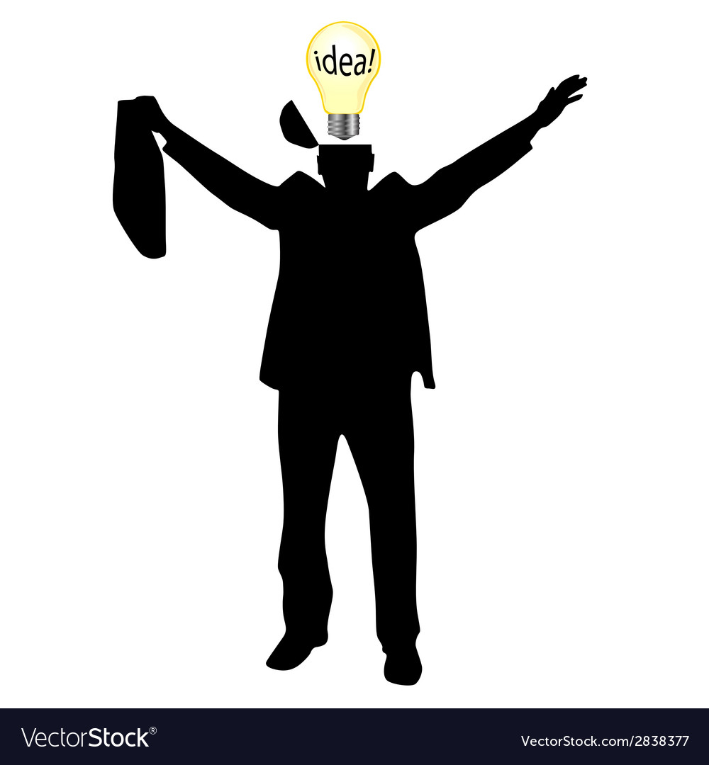 Businessman with the idea silhouette vector | Price: 1 Credit (USD $1)