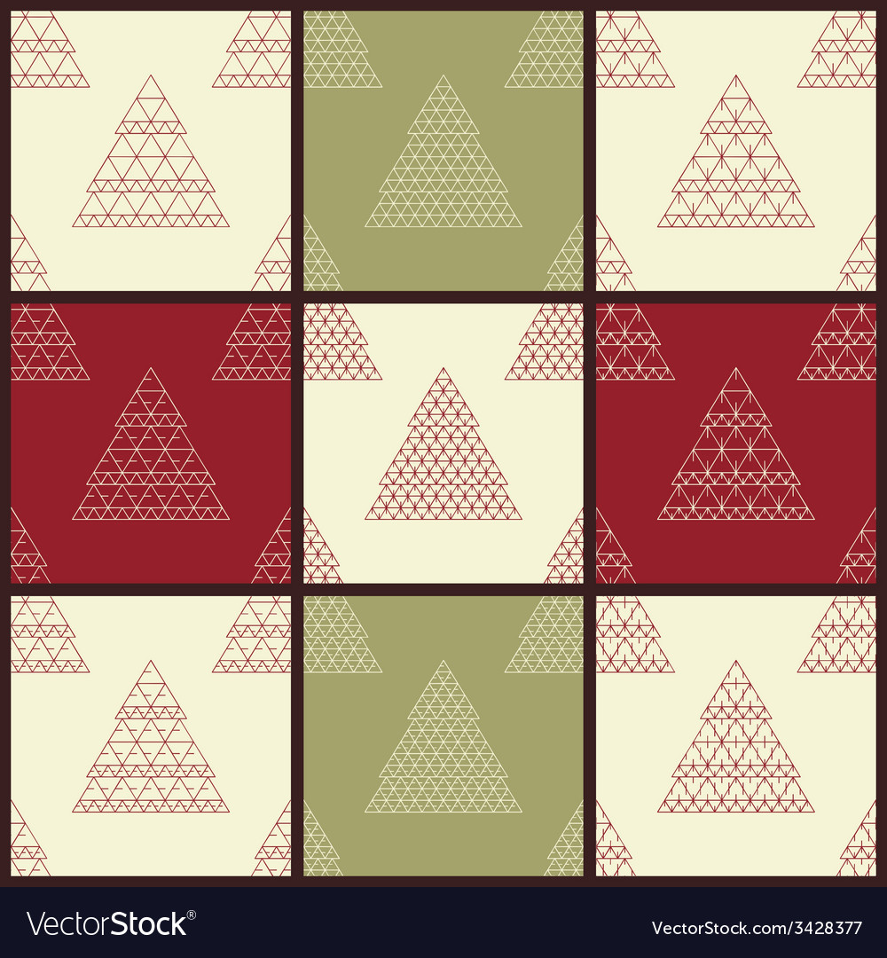 Christmas seamless patterns vector | Price: 1 Credit (USD $1)