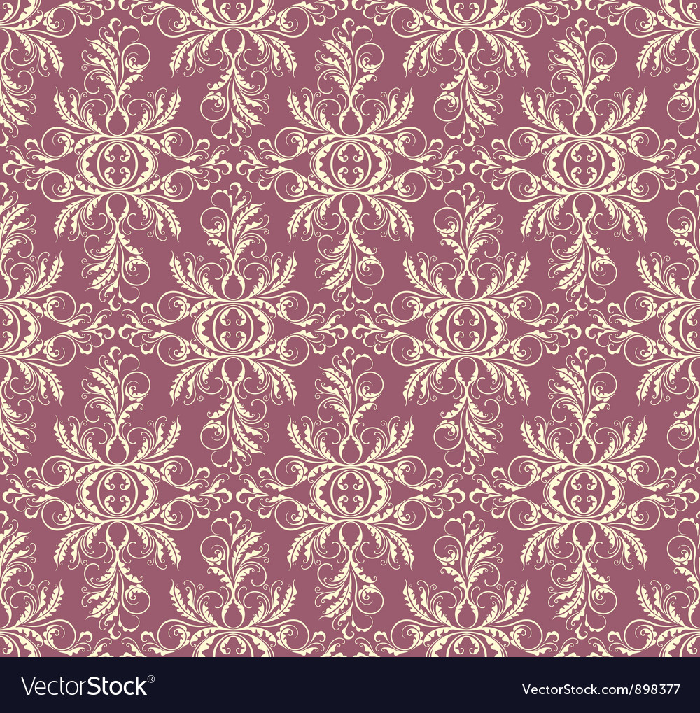 Decorative floral seamless background vector | Price: 1 Credit (USD $1)