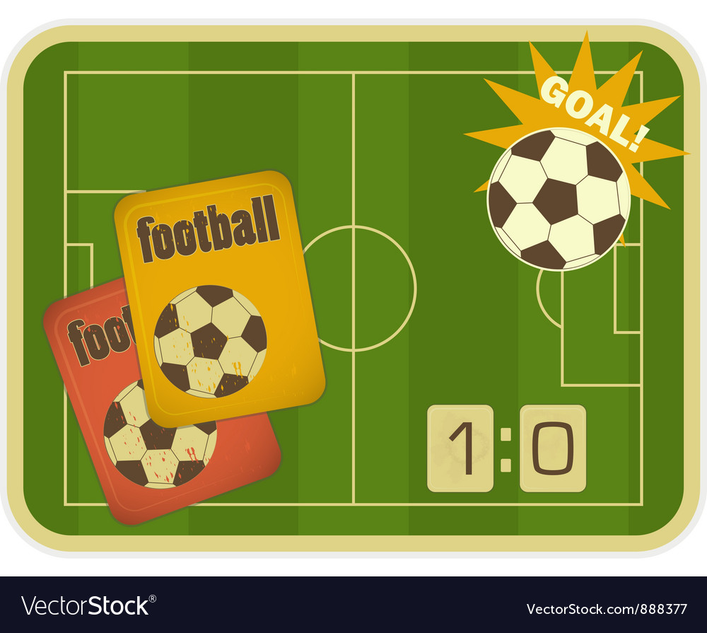 Football card vector | Price: 1 Credit (USD $1)