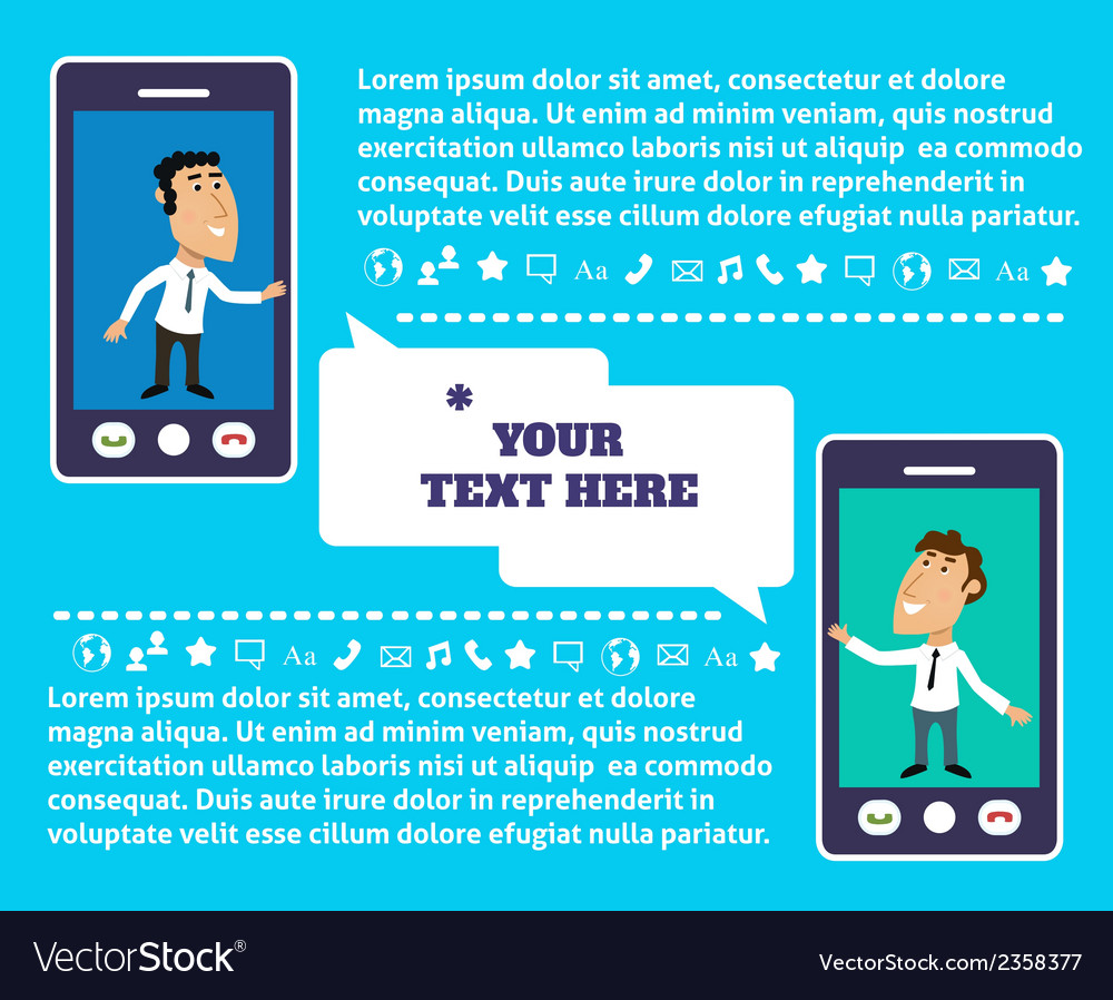 Mobile communication presentation vector | Price: 1 Credit (USD $1)