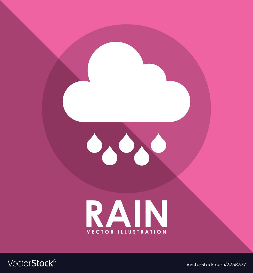 Rain icon design vector | Price: 1 Credit (USD $1)