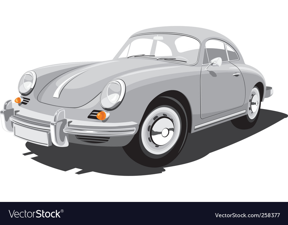 Retro sport car vector | Price: 3 Credit (USD $3)