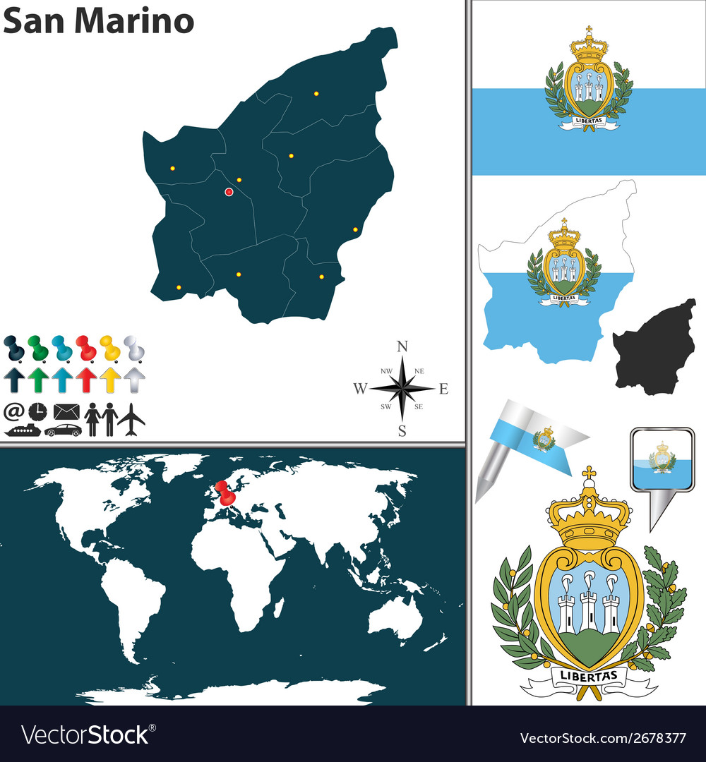 San marino vector | Price: 1 Credit (USD $1)