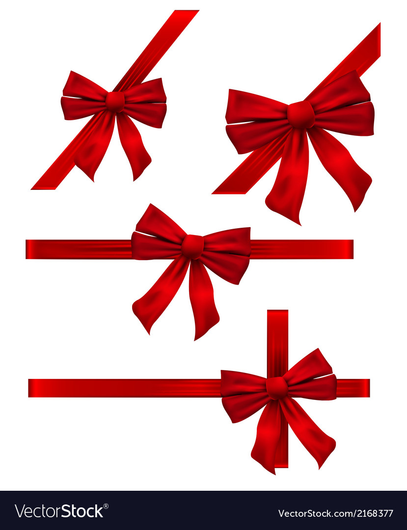 Several bow decoration vector | Price: 1 Credit (USD $1)