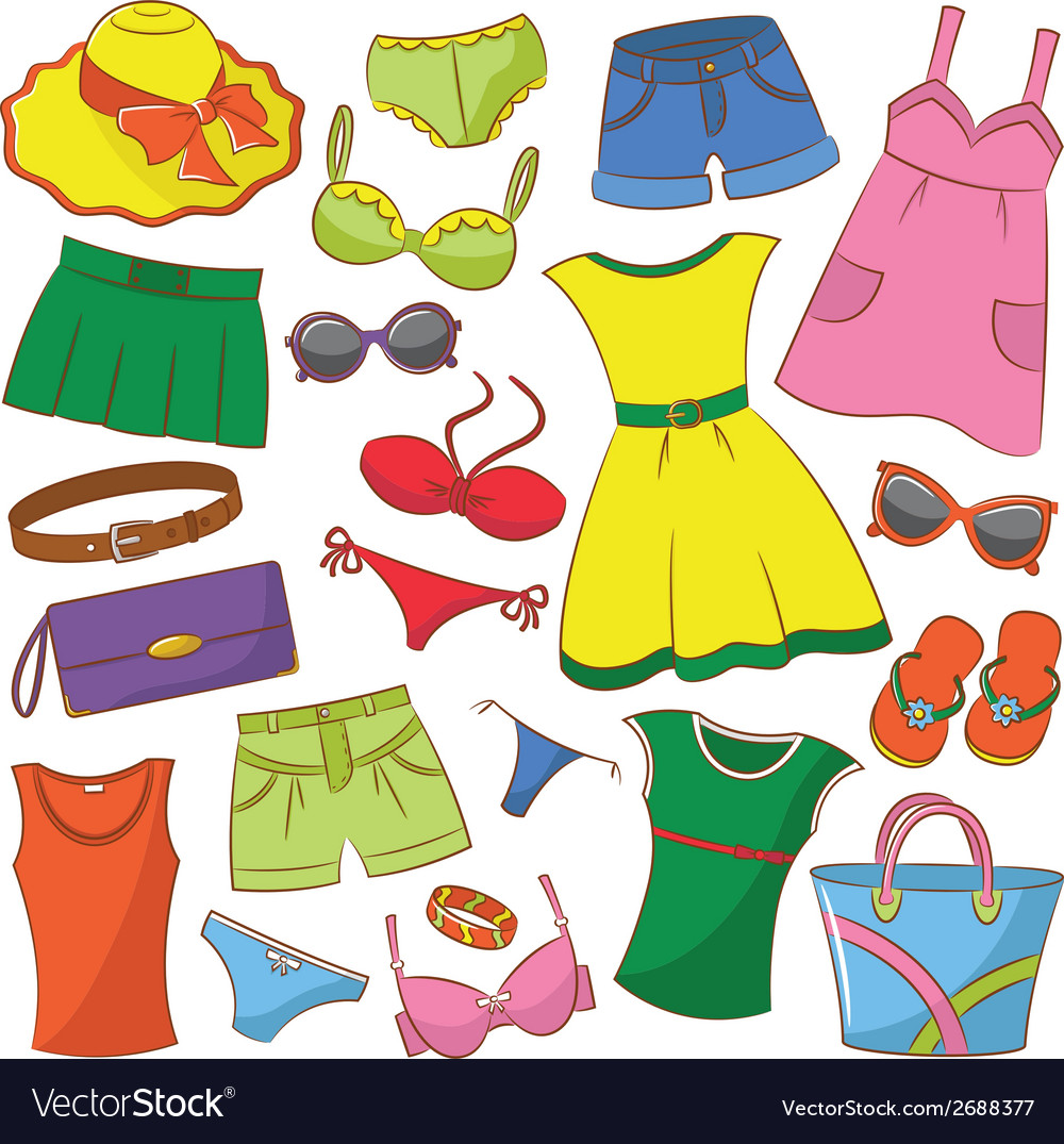 Summer womenwear vector | Price: 1 Credit (USD $1)