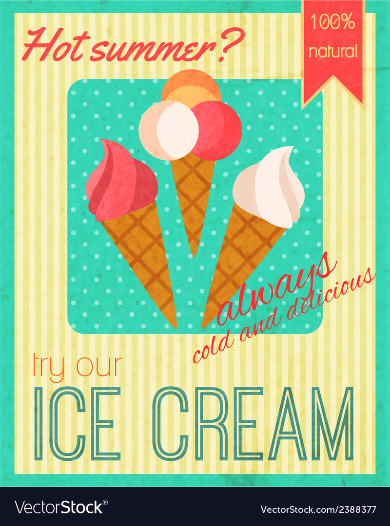 Sweets retro poster vector | Price: 1 Credit (USD $1)